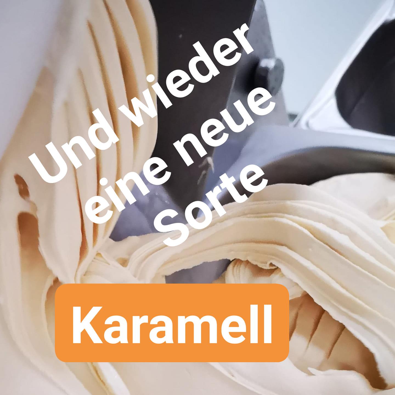 Selbst gemachtes Karamell Eis